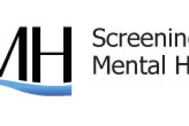 "Logo with capital letters S, M and H and the words, ""Screening for Mental Health"""