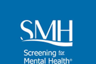 "Logo with capital S, M and H and the words, ""Screening for Mental Health"" below."