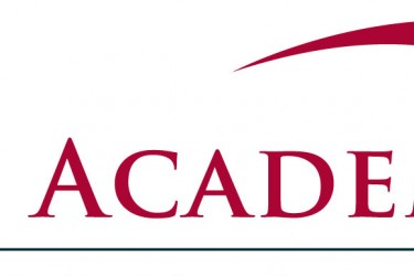 "Logo of a red arch and the words, ""The Academy."""