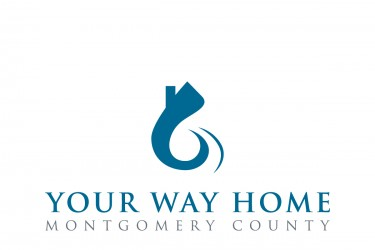 "Graphic logo of a house with a swooping path and the words, ""Your Way Home Montgomery County"" underneath."
